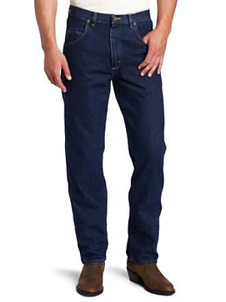 Wrangler Mens Big Rugged Wear Relaxed Fit Jean, Antique Navy, 52x30