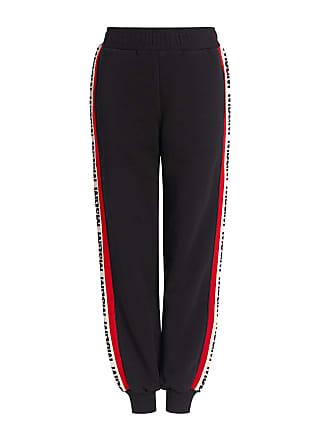 Msgm Logo Track Pants Black