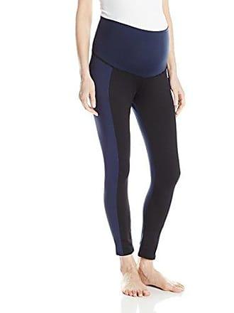 d0ff29b8fcef4 Maternal America Womens Maternity Crop Yoga Pants, Navy/Black Small