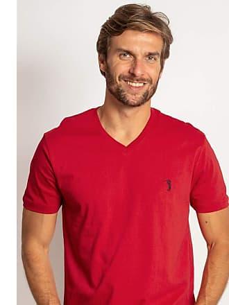 Aleatory Camiseta Aleatory Gola V Básica Vermelha-Vermelho-P
