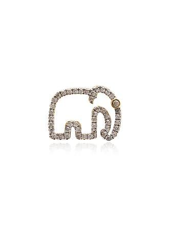 Yvonne Léon Elephant 18K gold diamond earring