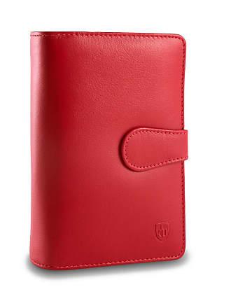 ab9a5ef615 dv Portafoglio donna grande in pelle multi tasche 2 portamonete DV Rosso