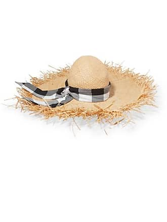 8cb0090e Gigi Burris Millinery Midnight Ete Gingham Cotton-trimmed Straw Sunhat -  Neutral