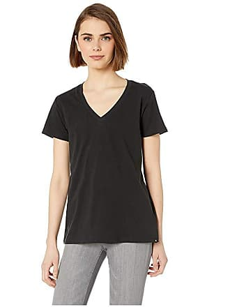 Hurley Solid Perfect V-Neck Tee Shirt (Black) Womens T Shirt