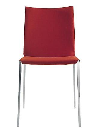 ZANOTTA Design Lia Side Chair Polished Aluminium & Tela Egitto Fabric