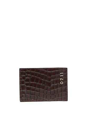 0711 croco-effect cardholder - Brown
