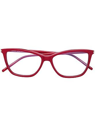 Saint Laurent Eyewear Armação de óculos gatinho - Vermelho