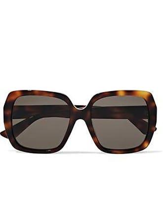 Gucci Gucci Woman Square-frame Tortoiseshell Acetate Sunglasses Animal Print Size