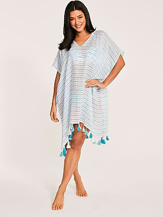 915221faeede08 Black Bell Sleeve Cover Up. Delivery: free. Seafolly Linen Stripe Kaftan