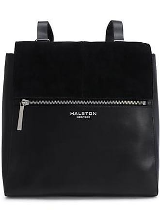 Halston Heritage Halston Heritage Woman Suede-trimmed Leather Backpack Black Size