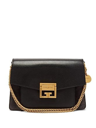 dfc3e6076e Givenchy Gv3 Small Suede And Leather Cross Body Bag - Womens - Black Grey
