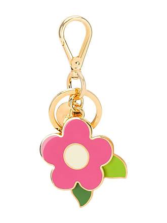 4a893f835b990 Prada Schlüsselanhänger mit Blumenmotiv - Rosa