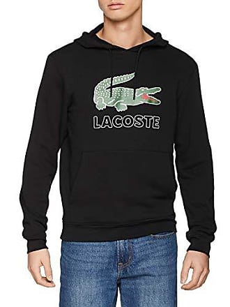 19a4bf22f64 Lacoste SH6342 Sweat-Shirt Homme Noir (Noir 031) X-Small (Taille