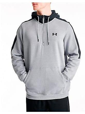 Under Armour Mens Microthread Fleece Half-Zip Hoodie, Grey