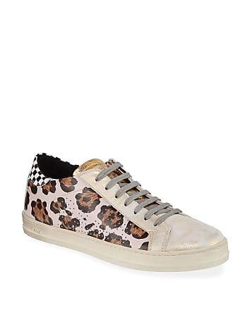 P448 John Mixed-Print Leather Sneakers