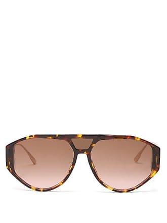 Dior Diorclan1 Tortoiseshell Acetate Aviator Sunglasses - Womens - Tortoiseshell