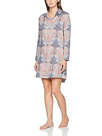 60d89261932c98 Skiny Damen Nachthemd Moonlight Sparkle Sleep Sleepshirt Langarm Mehrfarbig  (Slateblue Batik 1119)