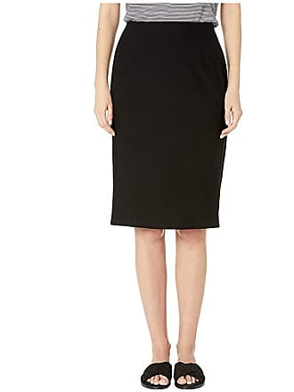 4c38ae6382 Eileen Fisher Washable Stretch Crepe Knee Length Pencil Skirt (Black)  Womens Skirt