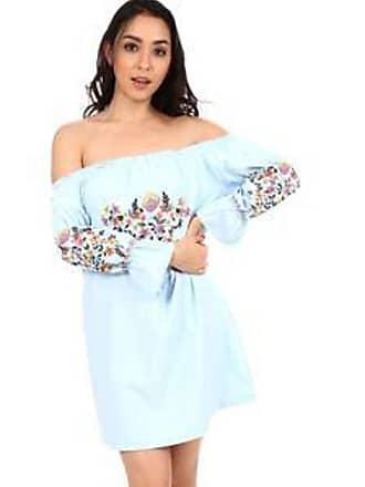 Lola Swimwear Vestido con Estampado de Flores<br> Azul Cielo