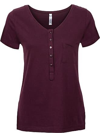 de5e13bffa0090 Bonprix T-Shirt kurzer Arm in rot (V-Ausschnitt) von bonprix