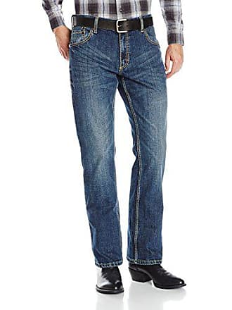 Wrangler Mens Retro Slim Fit Boot Cut Jeans, Layton, 34x36