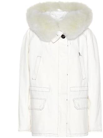 Yves Salomon - Army Fur-trimmed denim jacket