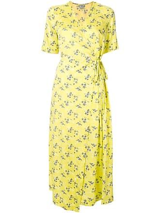 Baum Und Pferdgarten Vestido floral com transpasse - Amarelo
