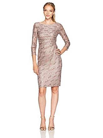 Jessica Howard Womens Petite Side Tucked Sheath Dress, Taupe, 14P