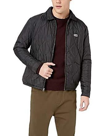 Obey Mens Dropout Liner Cropped Jacket, Black, XX-Large
