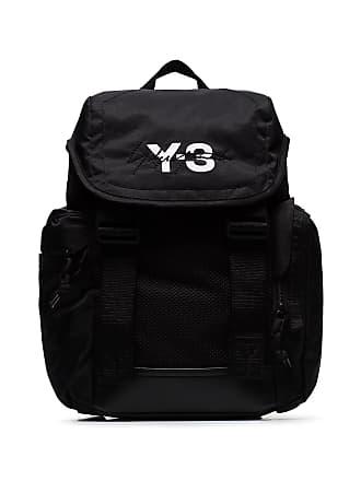 0d928eb7b0 Yohji Yamamoto black Mobility logo print backpack