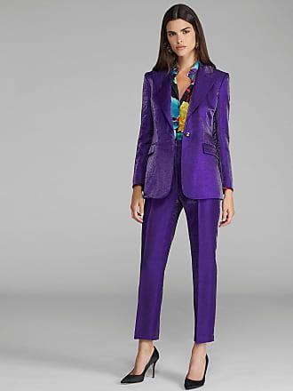 Etro Linen Tailored Jacket, Woman, Purple, Size 38