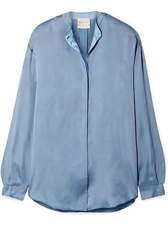Forte_Forte Washed-satin Shirt - Light blue