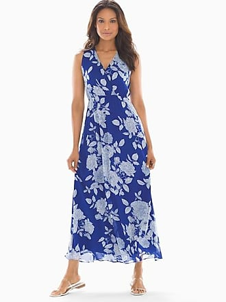 Soma Blooms Maxi Dress Blue, Size XXL