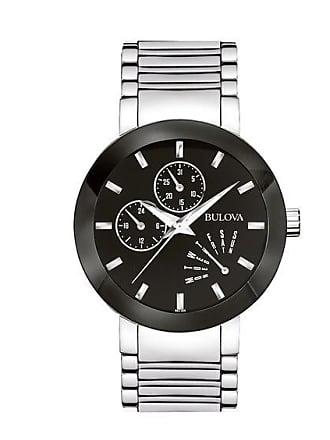 Zales Mens Bulova Modern Chronograph Watch with Black Dial (Model: 96C105)