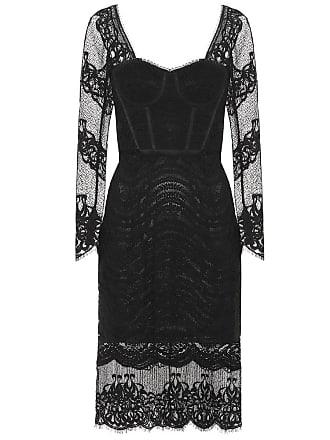 Jonathan Simkhai Mixed lace bustier midi dress