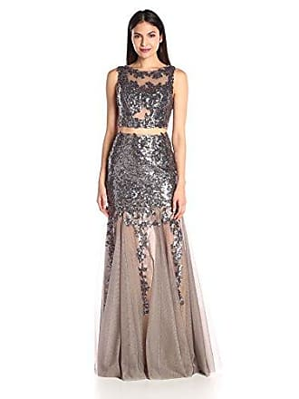 61920ed521e Jovani Womens Charcoal Sequin Prom Dress 10