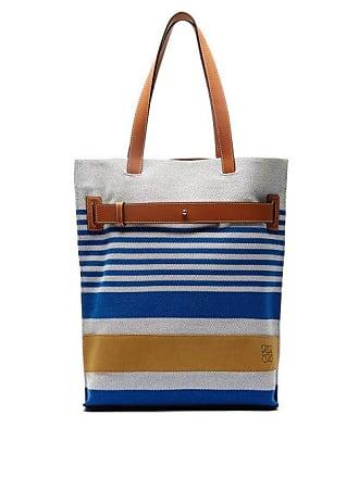 e0a4160ec23 Loewe Striped Canvas Tote Bag - Mens - Blue Multi
