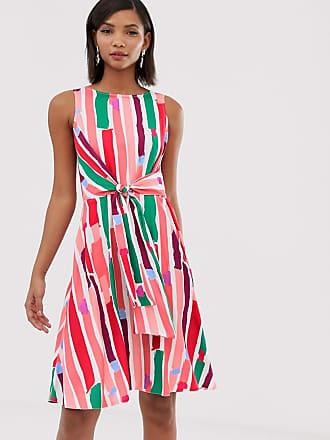 171e0bd6b9d7 Closet Vestito longuette a portafoglio e stampa puntinata arcobaleno -  Multicolore