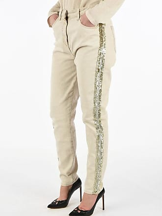 Blumarine sequined straight fit jeans Größe 44