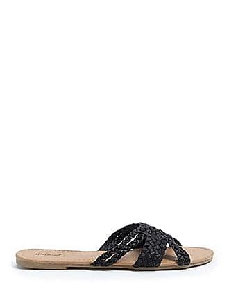 Forever 21 Forever 21 Braided Faux Leather Flats Black
