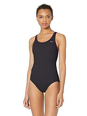 39eabb16721ef Nike Swim Womens Solid Powerback One Piece Swimsuit, Black, Large