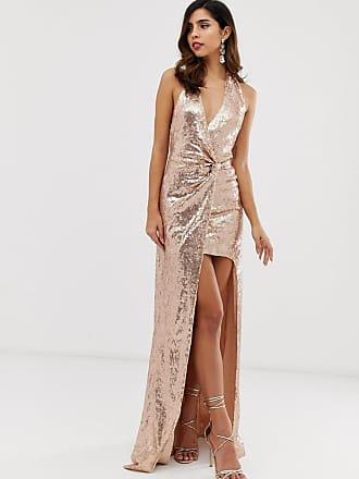 e8b93d6c City Goddess extreme split all over sequin maxi dress