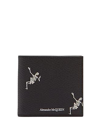 12646cb362e Alexander McQueen Portefeuille en cuir à imprimé Dancing Skeleton