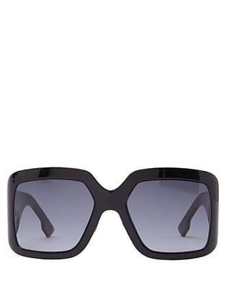 7b93328b95707 Dior Diorsolight2 Oversized Square Acetate Sunglasses - Womens - Black