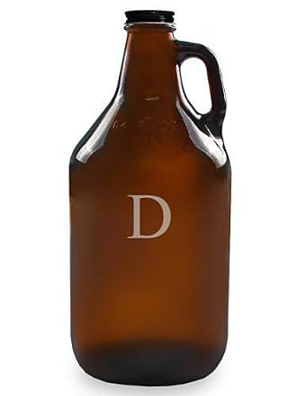 Cathy's Concepts Personalized 64oz Growler, Amber, Letter D