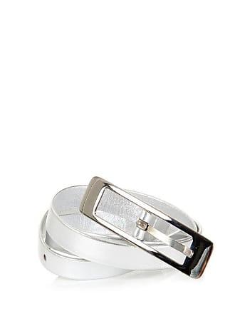 Maison Margiela Cintura in pelle effetto argento taglia 65 9da7399f381