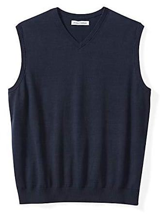 Amazon Essentials Mens Big & Tall V-Neck Sweater Vest, Navy, 6X