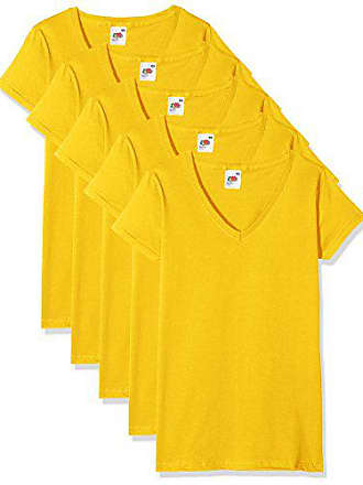 5c8b8bf53b38c Fruit Of The Loom 61-398-0-Camiseta Mujer Amarillo Amarillo (Sunflower
