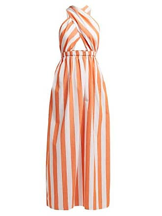 1dfd410343 Mara Hoffman Rosario Striped Cotton Halterneck Dress - Womens - Orange White