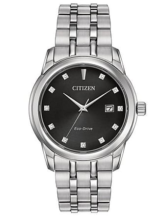 Zales Mens Citizen Eco-Drive Diamond Accent Watch with Black Dial (Model: Bm7340-55E)